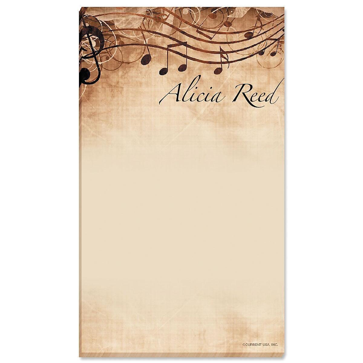 Sheet Music Memo Pad
