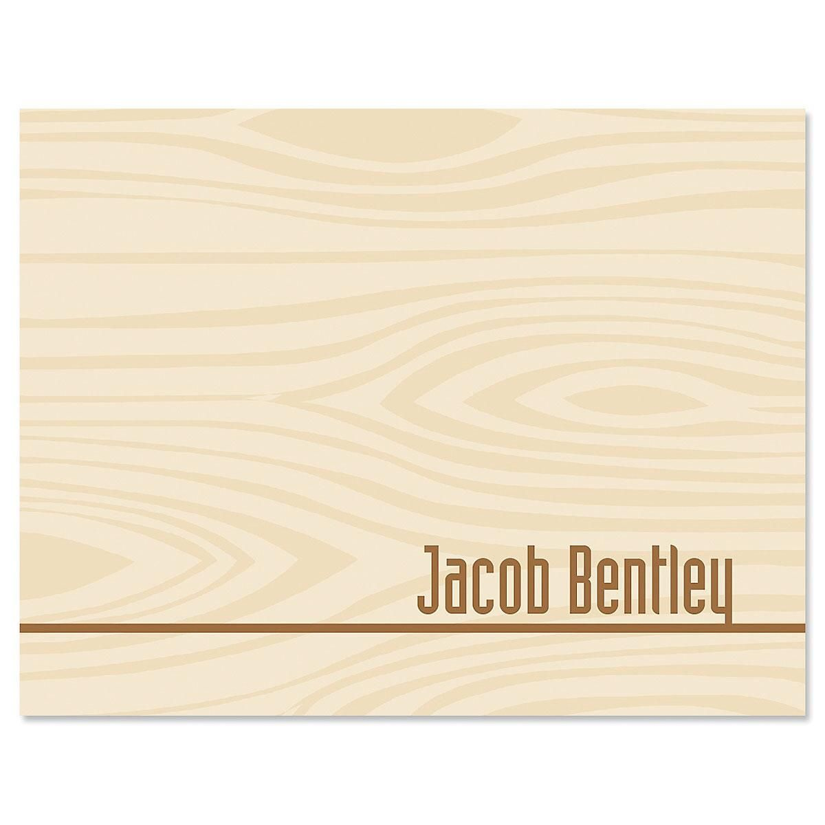 Woodgrain Note Cards