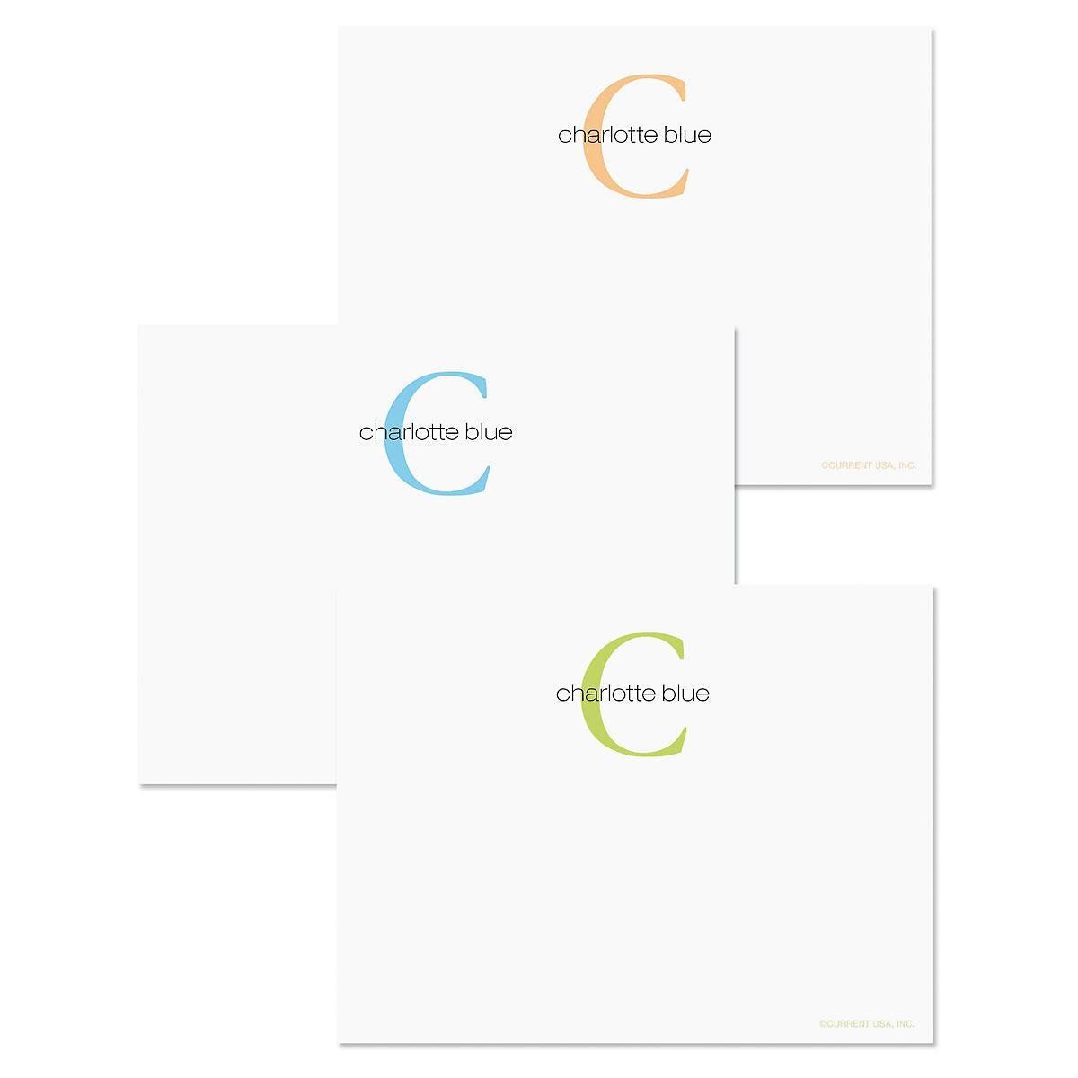 Alpha Beta Personalized Correspondence Card