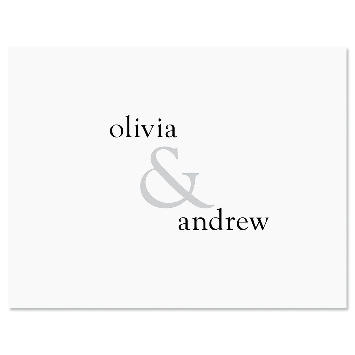 Ampersand Note Cards - Set of 24