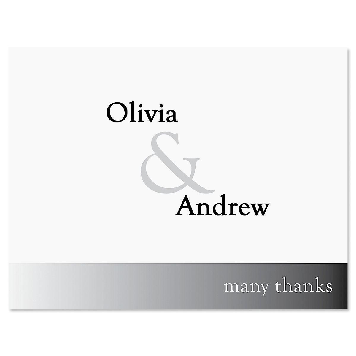 Ampersand Custom Thank You Cards