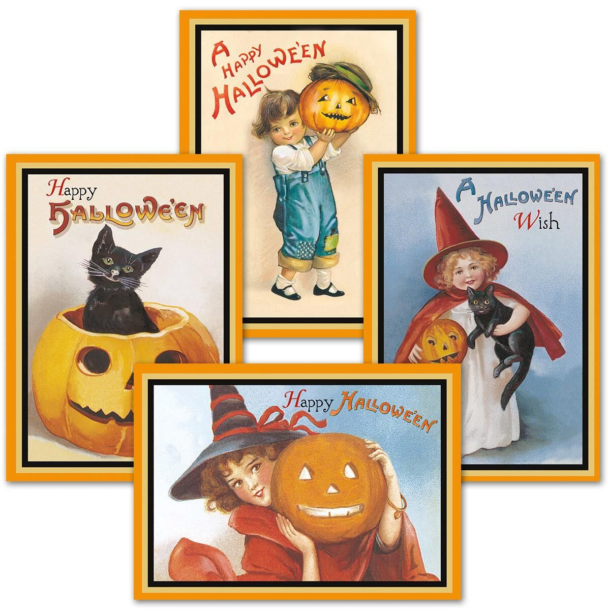 Victorian Halloween Greeting Cards
