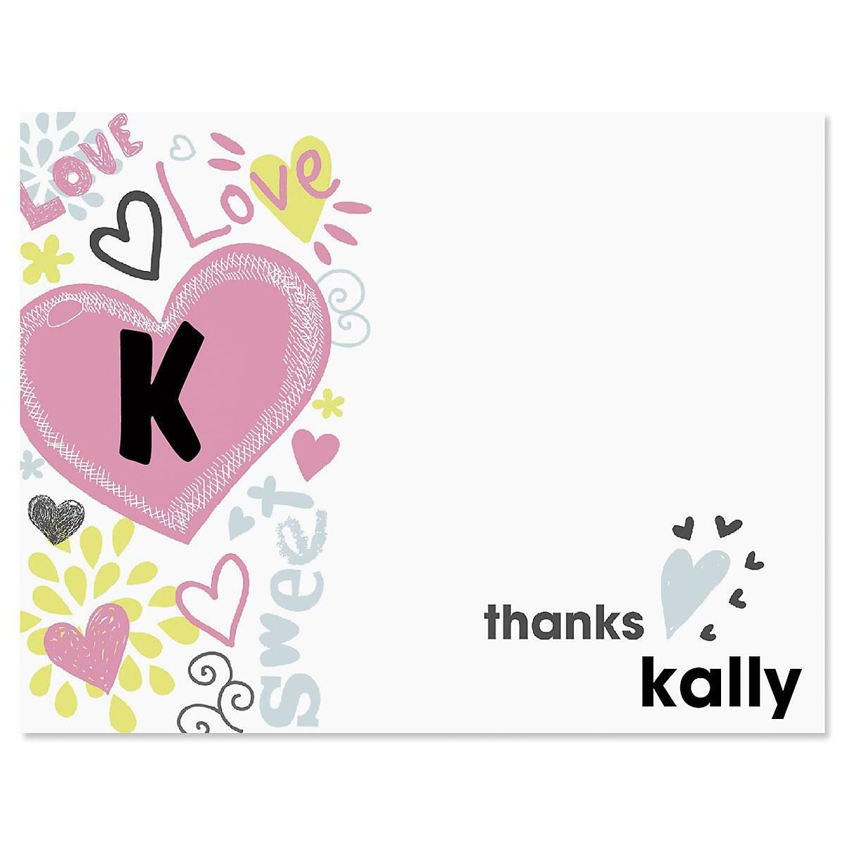 Doodle Town Custom Thank You Cards