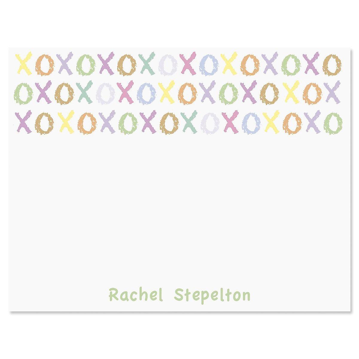 XOXOXO Personalized Correspondence Cards
