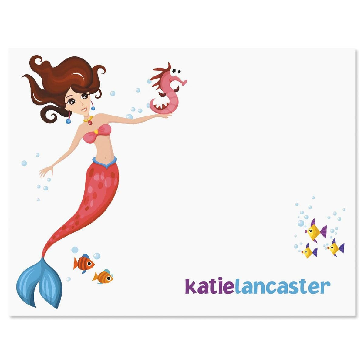 Mermaid Custom Note Cards