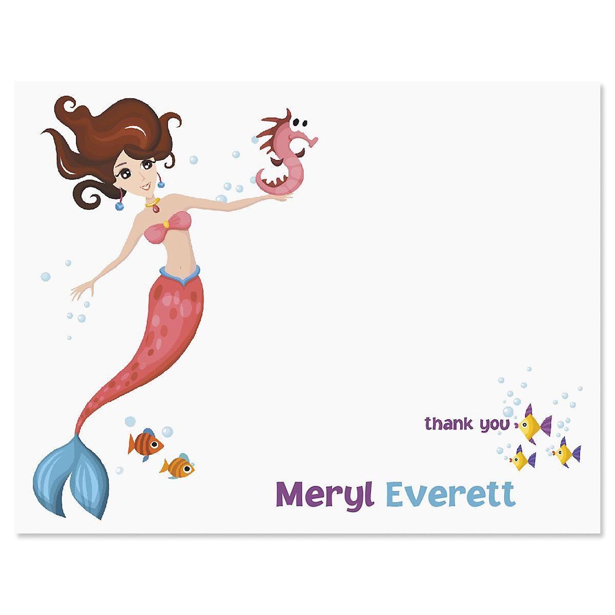 Mermaid Custom Thank You Cards