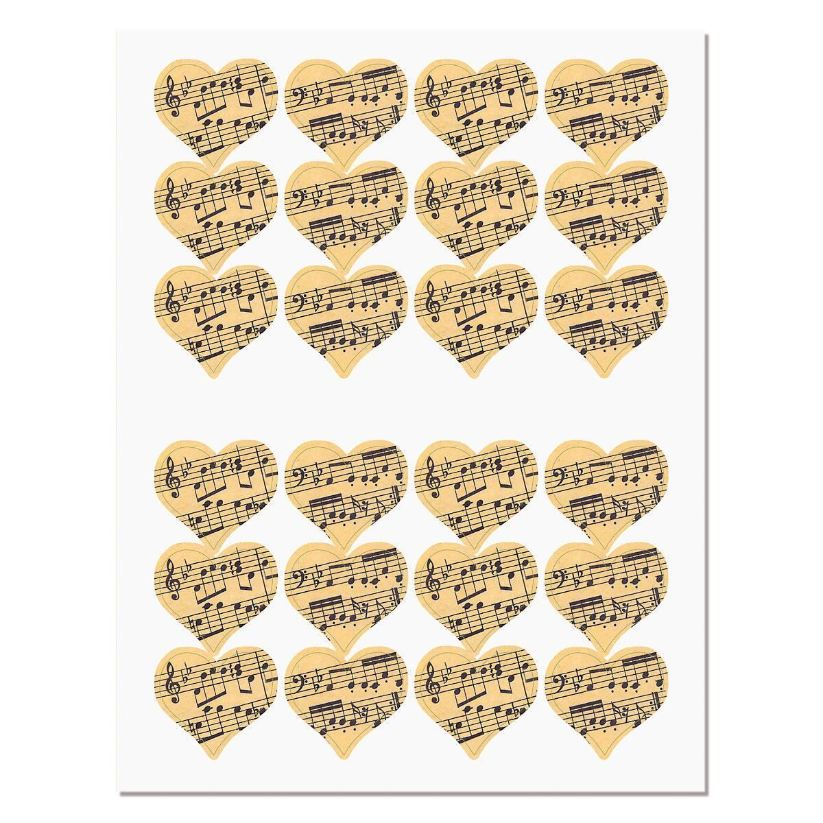 Sheet Music Envelope Seals