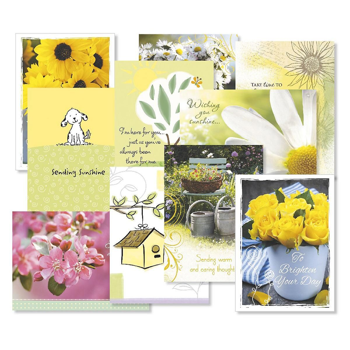 Get Well Greeting Card Value Pack Colorful Images