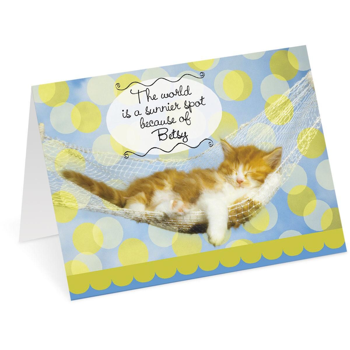Cat Personalized Birthday Card