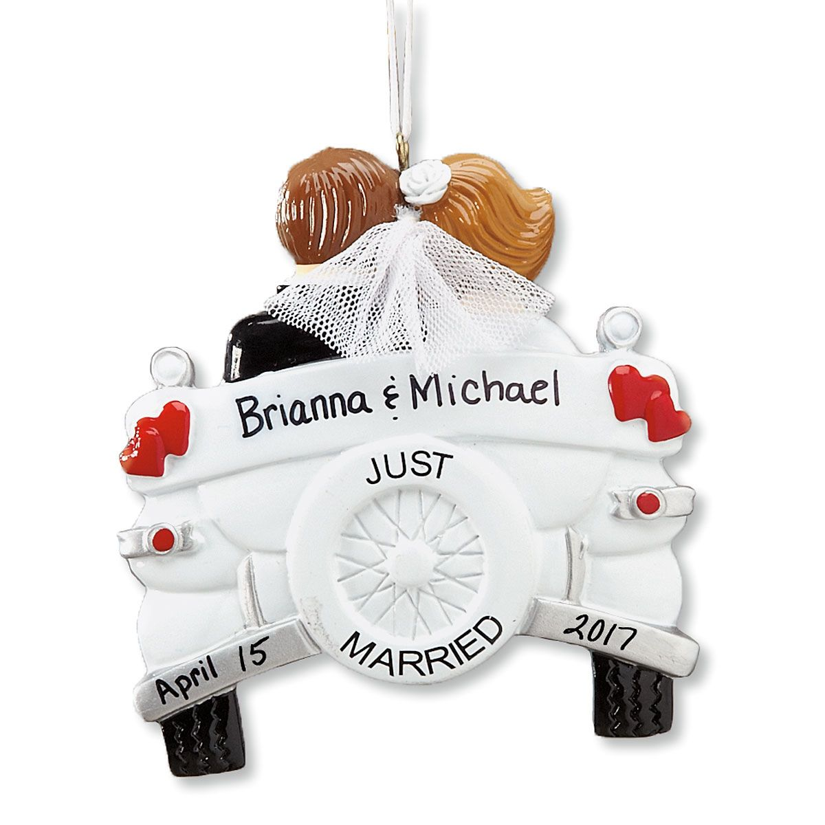 Just Married Personalized Christmas Ornament
