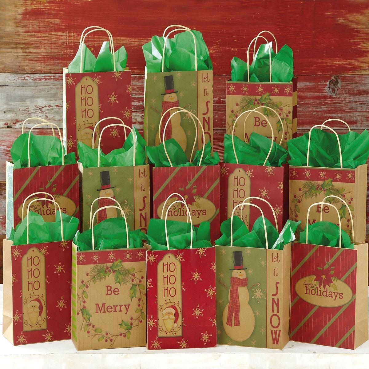 Christmas Kraft Gift Bags