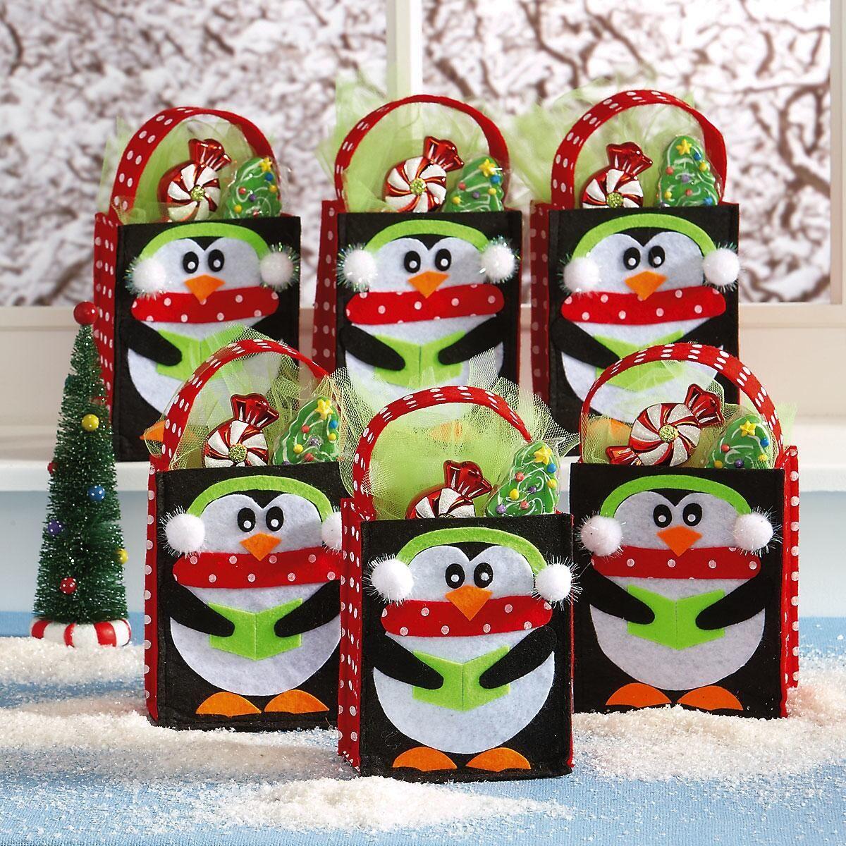 Penguin Felt Treat Bags