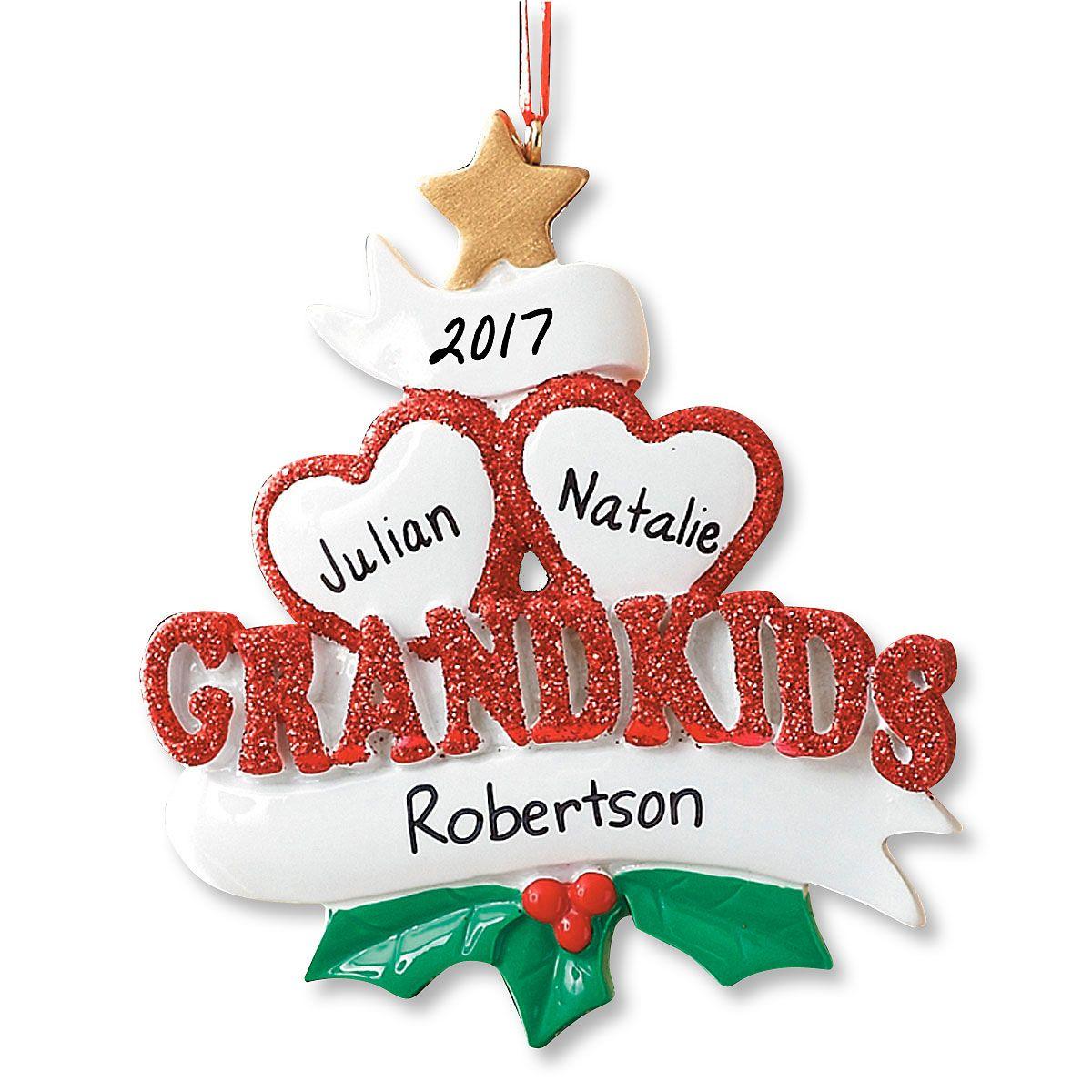 Grandkids Personalized Christmas Ornament
