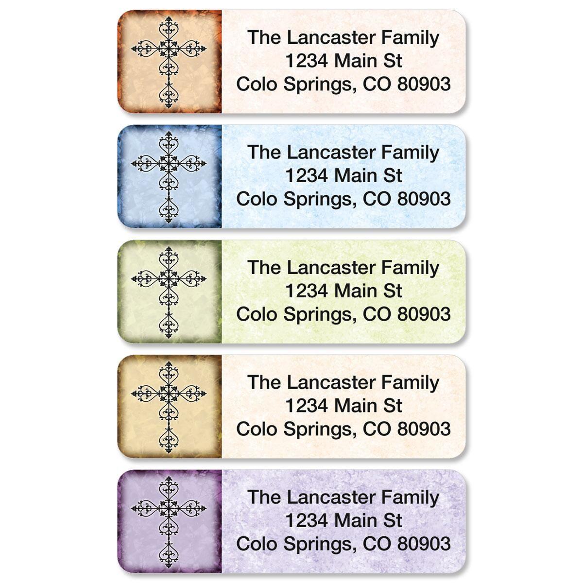Rejoice Rolled Return Address Labels  (5 designs)