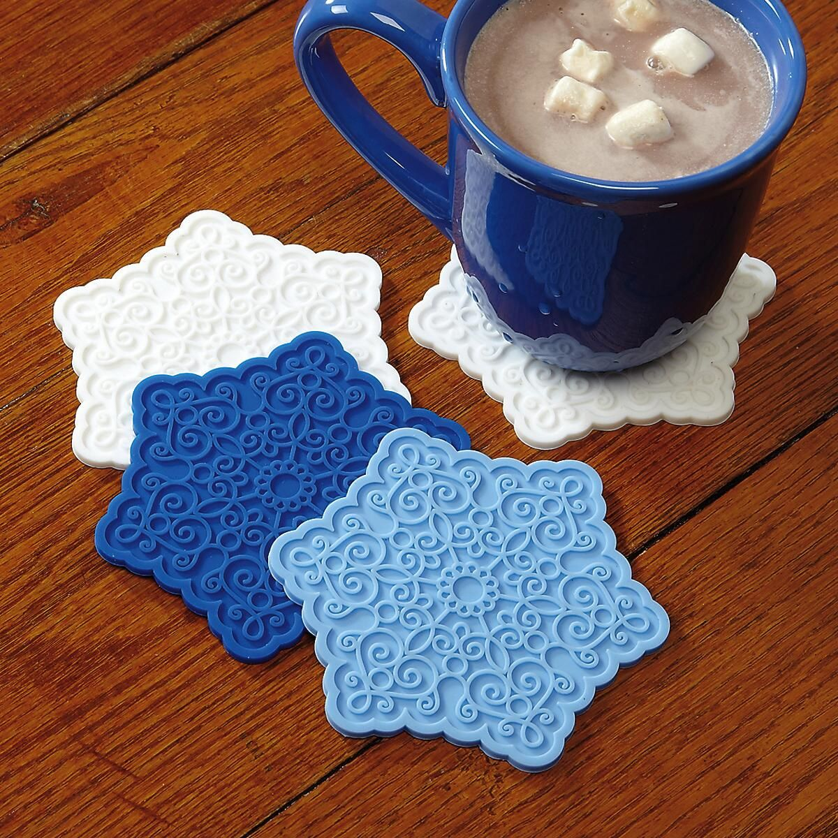 Snowflake Shaped Silicone Coasters