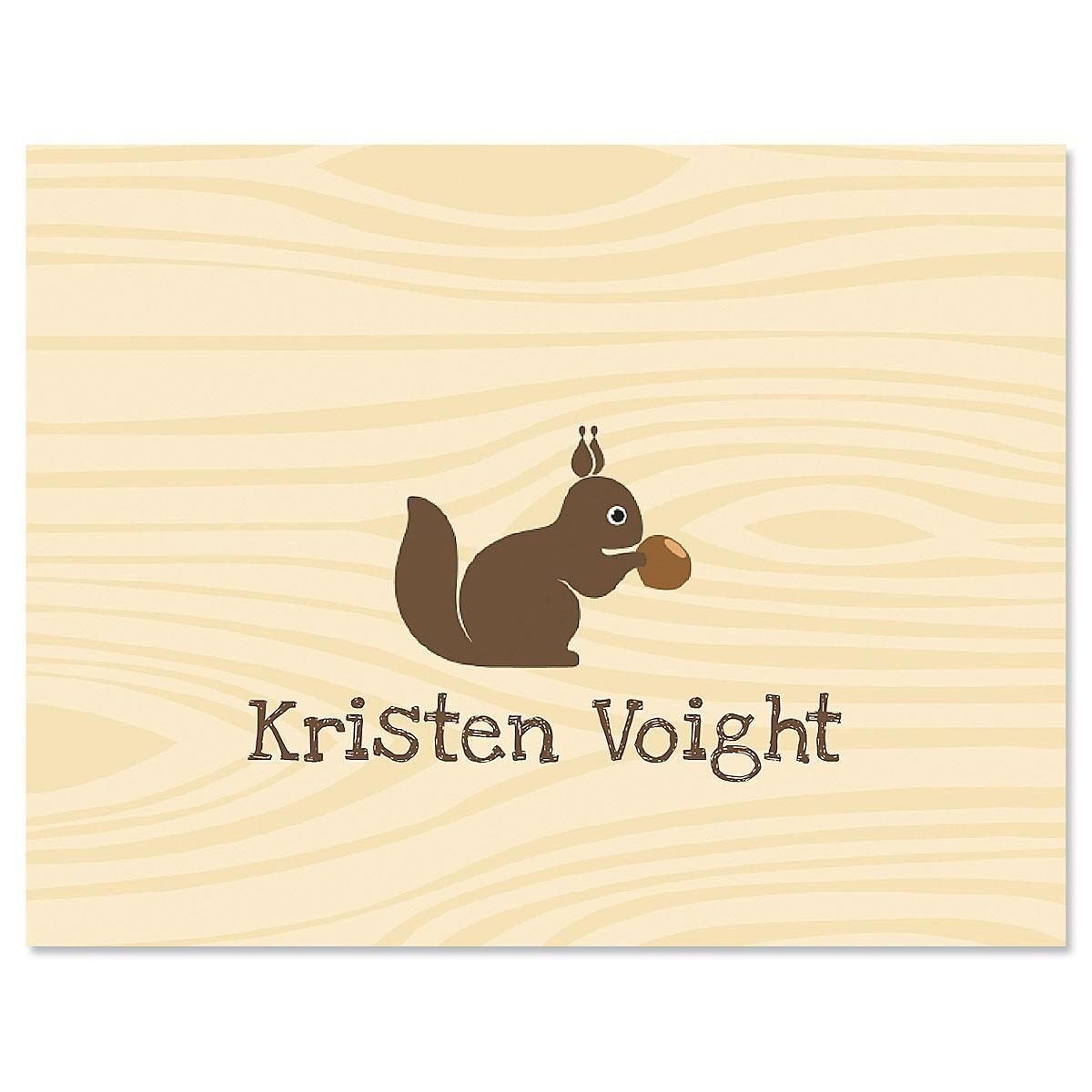 Woodland Squirrel Personalized Note Cards