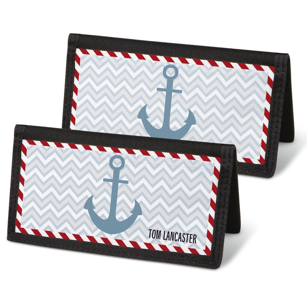 Nautical Chic Checkbook Cover - Personalized