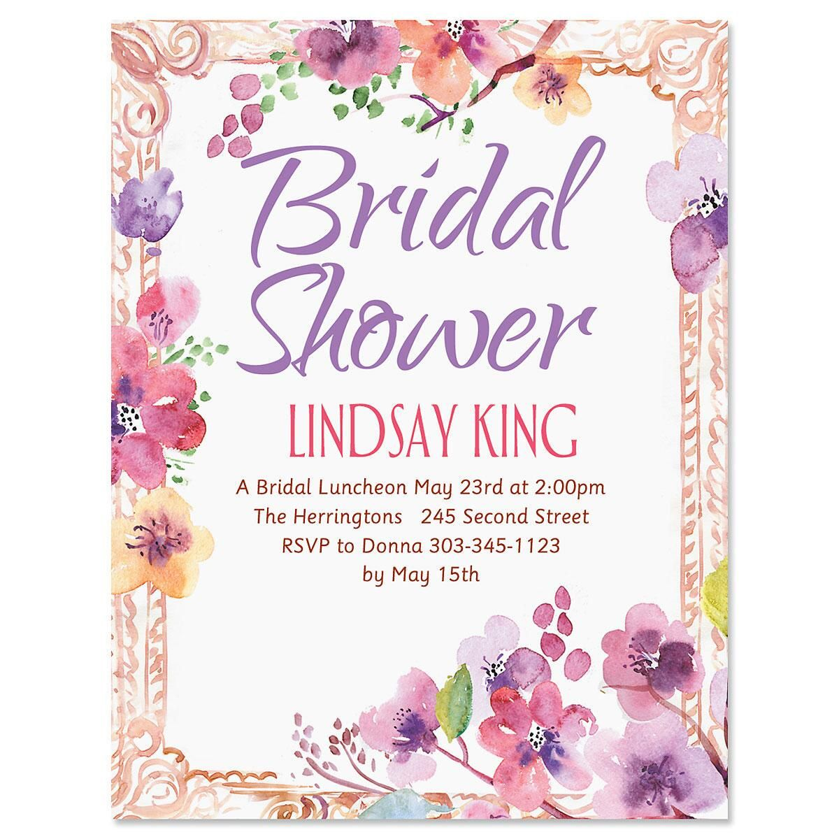Floral Frame Personalized Invitation