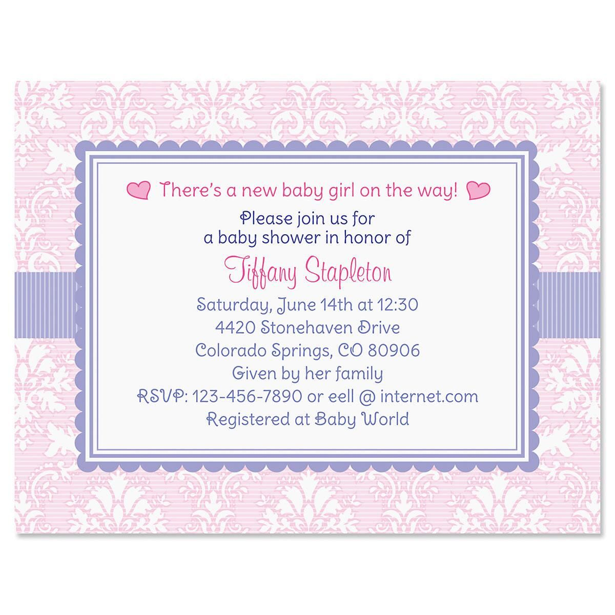 Painted Blooms Personalized Invitation