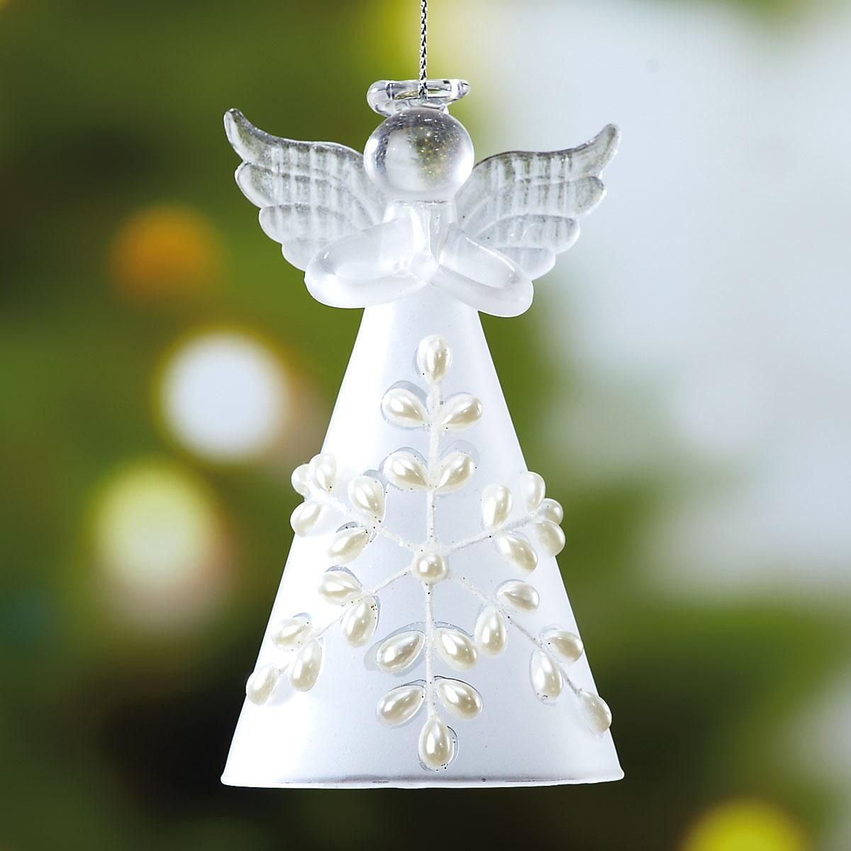 Glass Snow Angel Ornament Buy 1, get 1 Free!