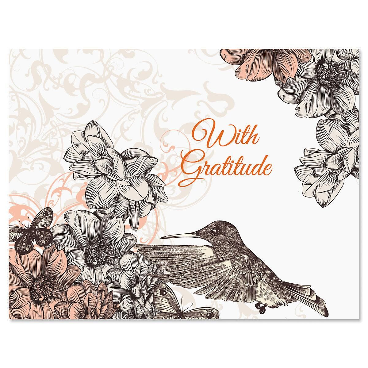 Hummingbird Garden Custom Note Cards