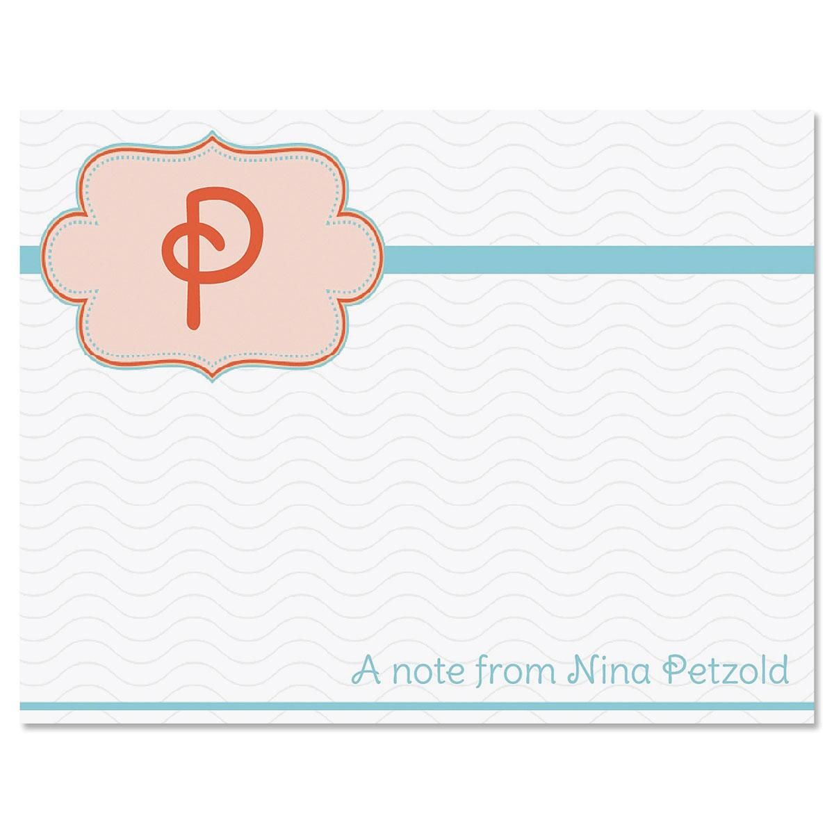 Monogram Detail Note Cards