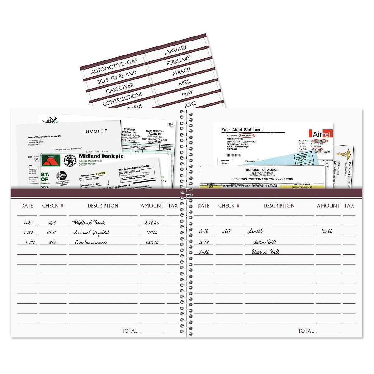 gray bursts bill paying organizer colorful images