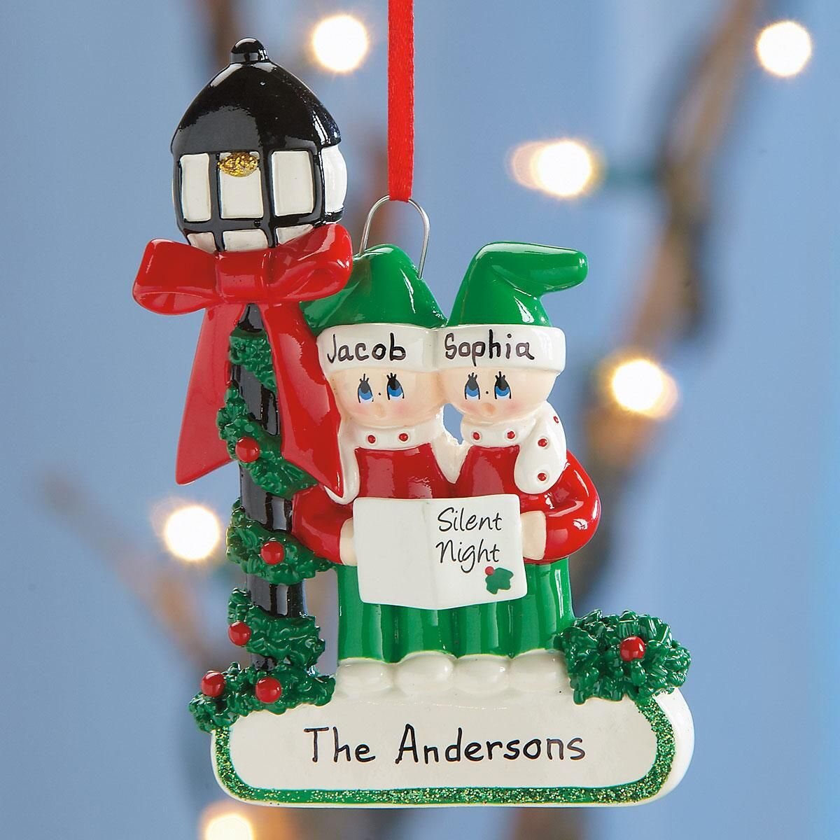 Caroler Family Ornament
