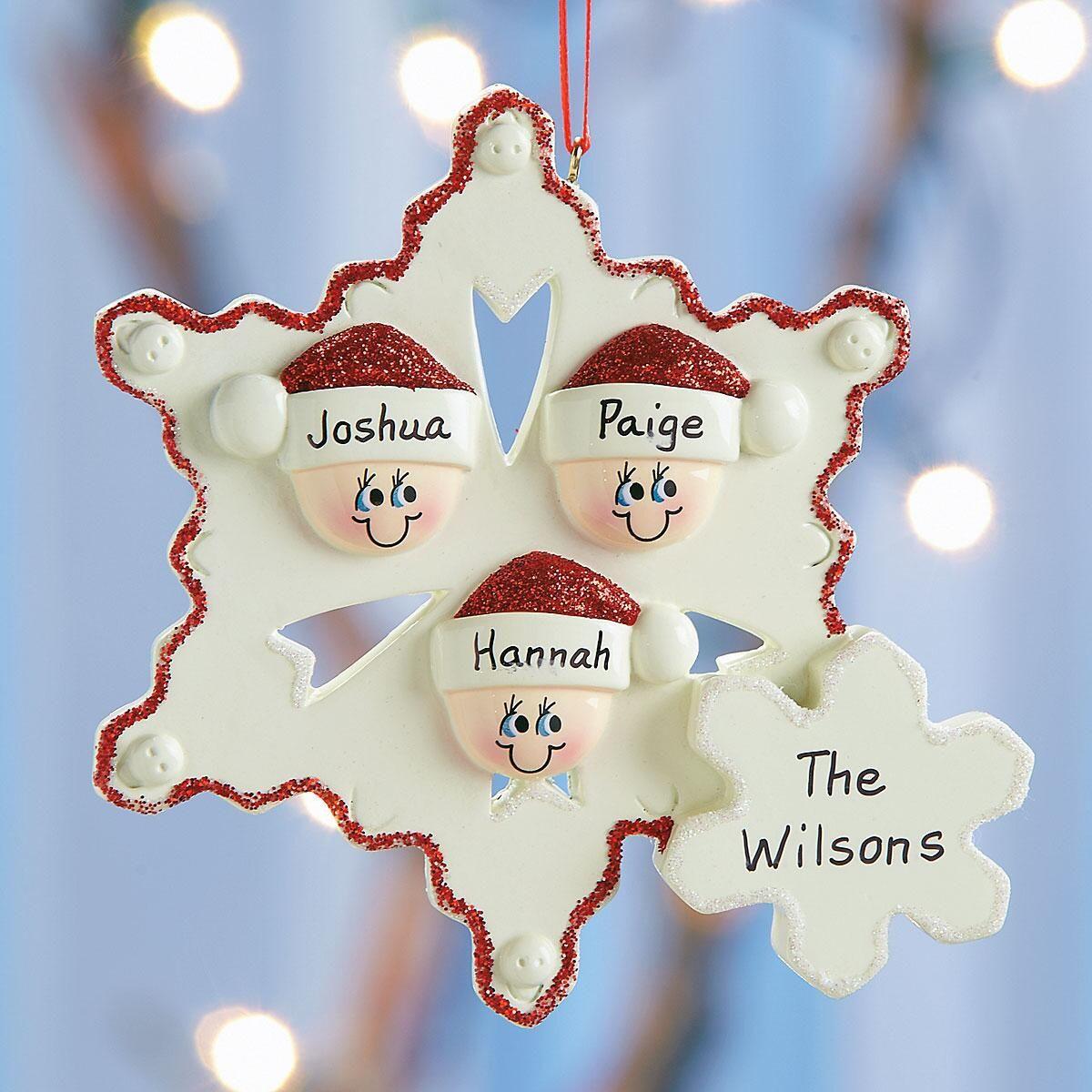 Snowflake Family Ornament