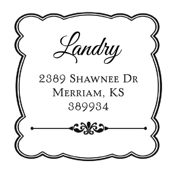 Framed Details Address Stamp