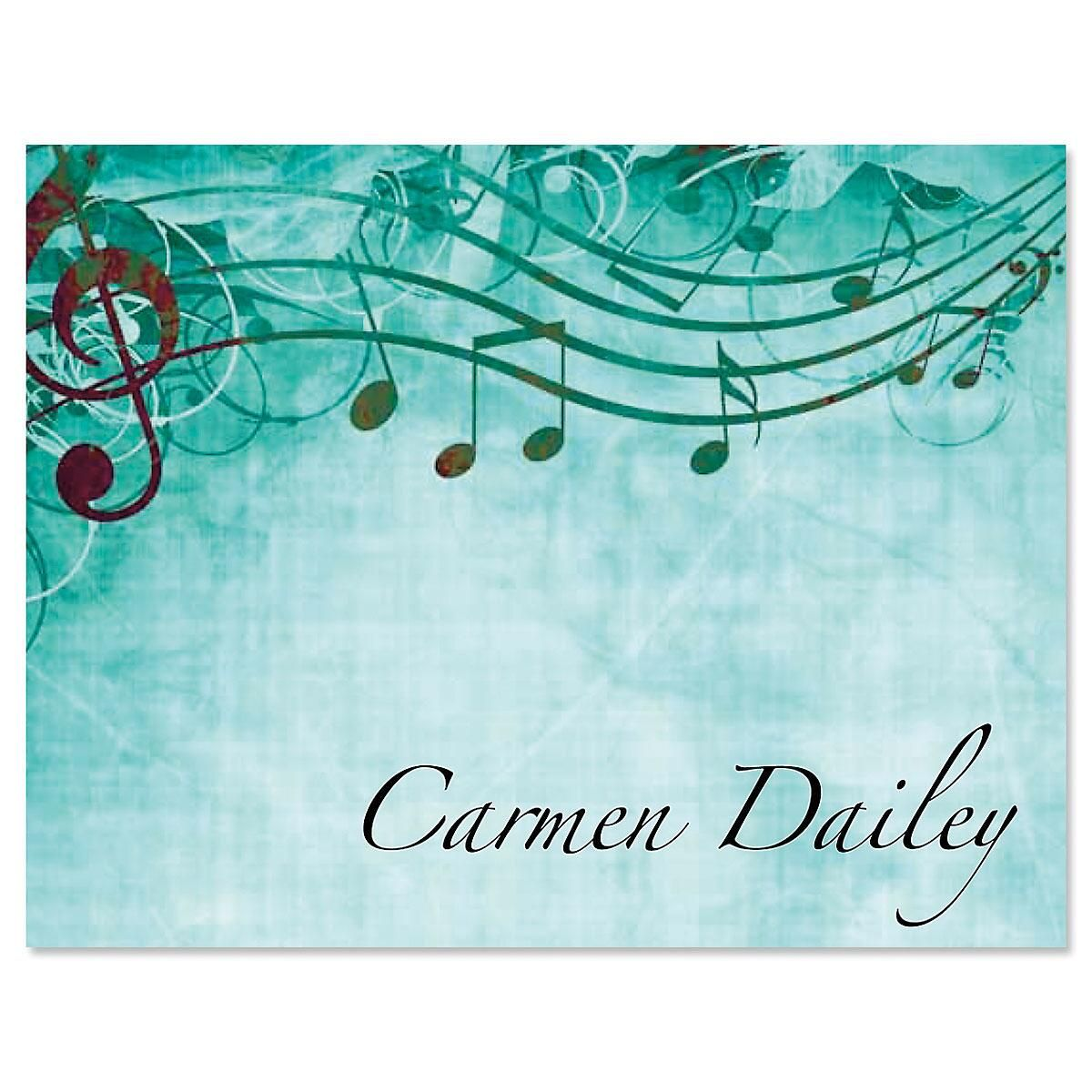 Sheet Music Custom Note Cards