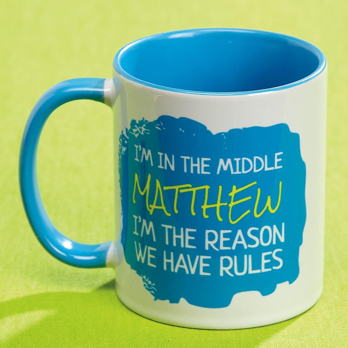 Middle Child Personalized Mug Rules