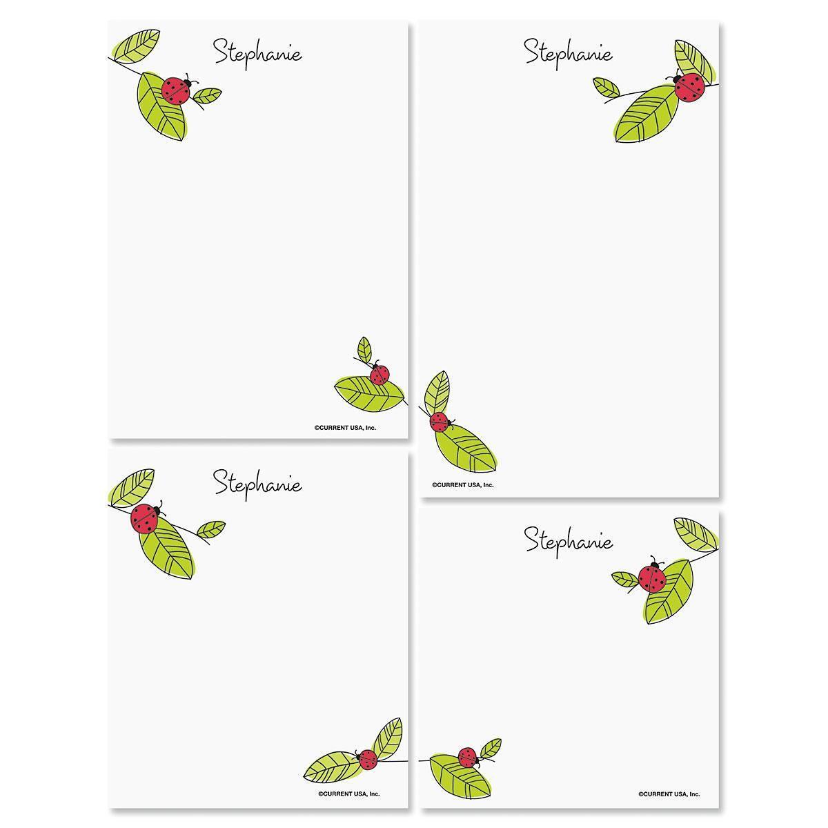 Ladybugs Custom Notepad Set