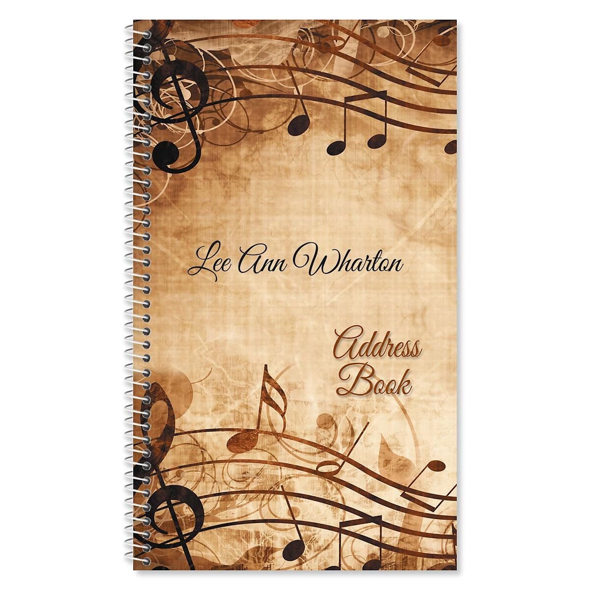 Sheet Music Personalized Lifetime Address Book