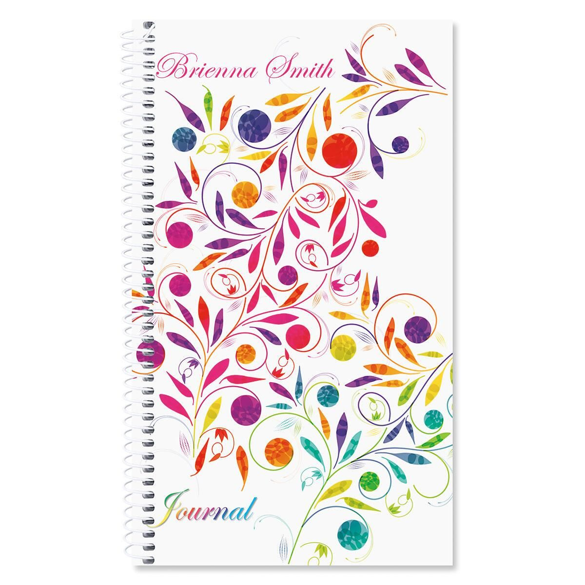 Color Swirl Personalized Daily Journal