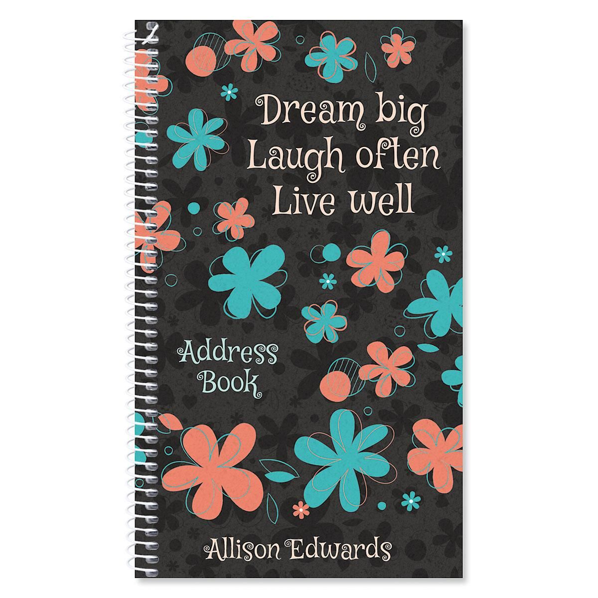 Flourish Personalized Lifetime Address Book