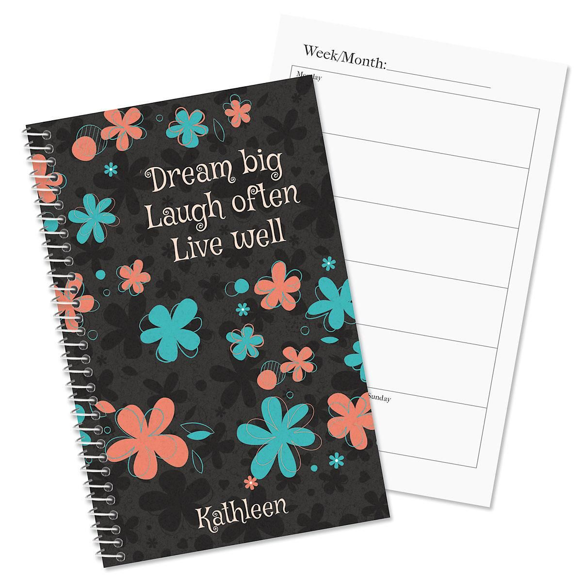 Flourish personalized planner colorful images for Custom photo planner