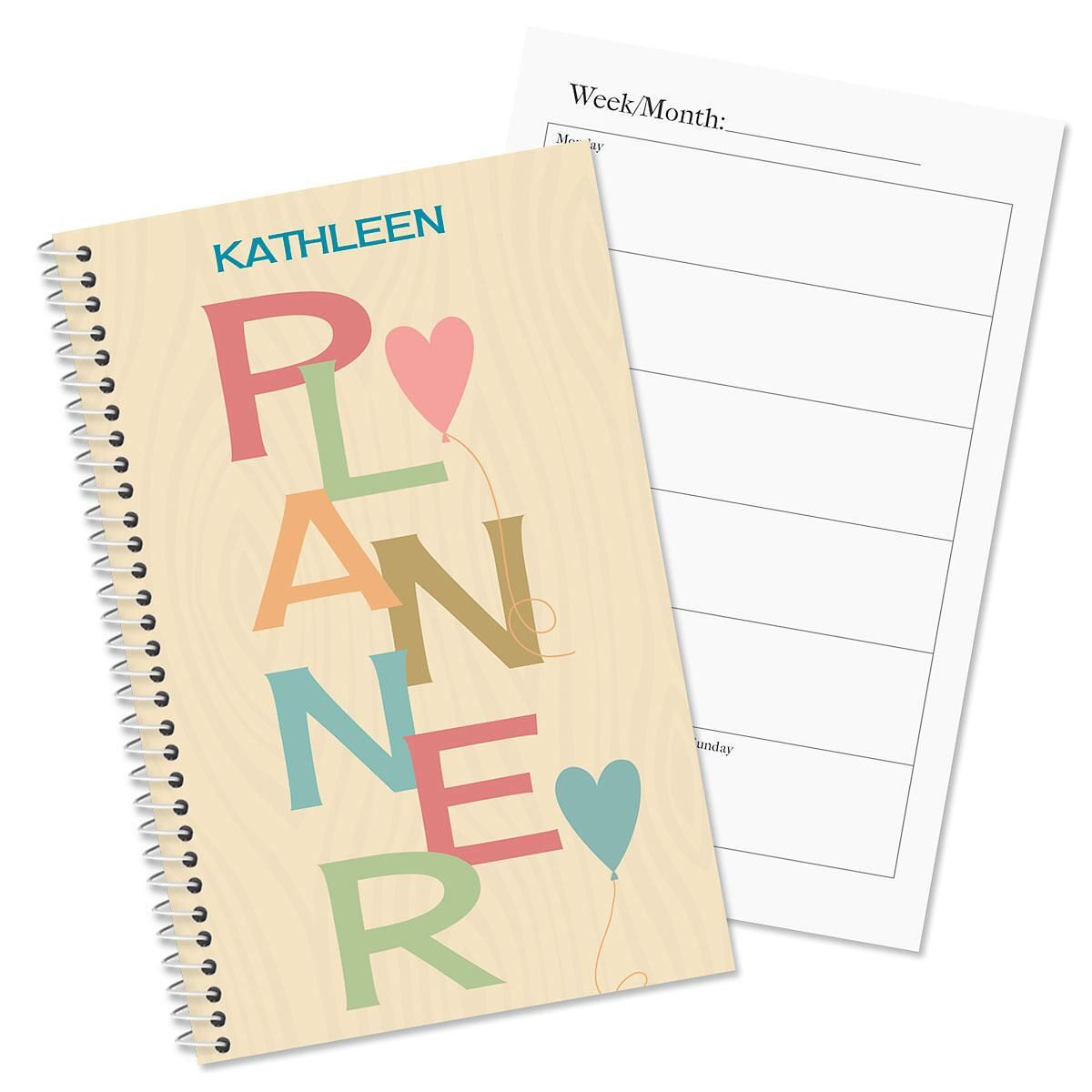Natural personalized planner colorful images for Custom photo planner