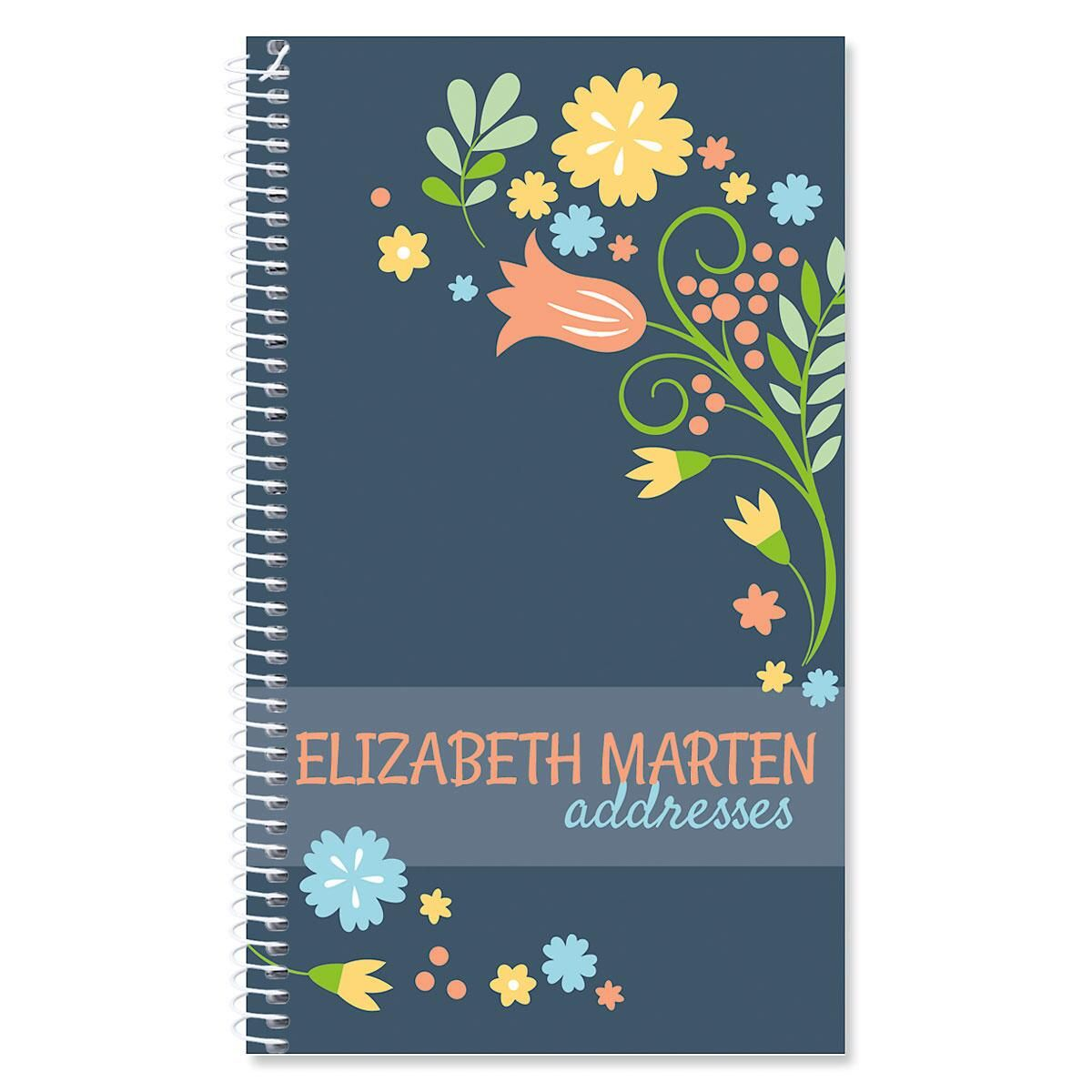 Simply Blooming Personalized Lifetime Address Book