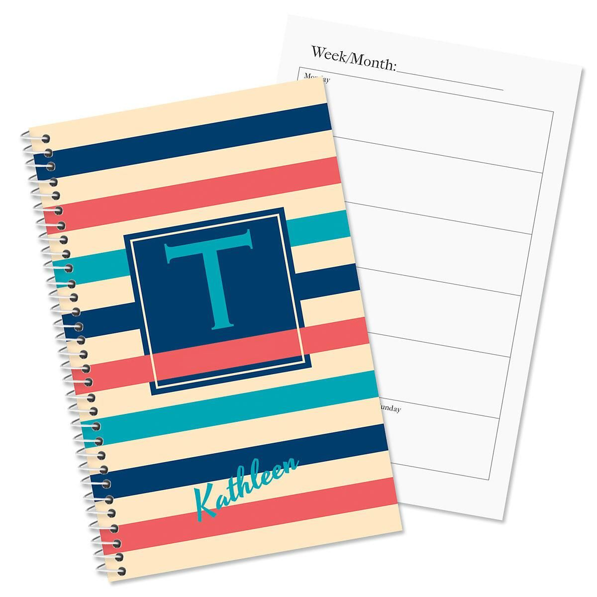 Brilliant bands personalized planner colorful images for Custom photo planner