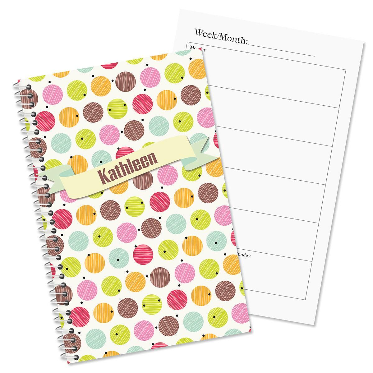 Doodle Dots Personalized Weekly Planner