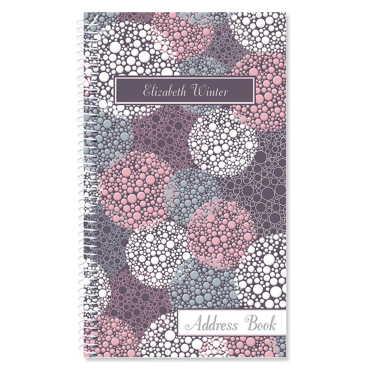 Gray Burst Personalized Lifetime Address Book