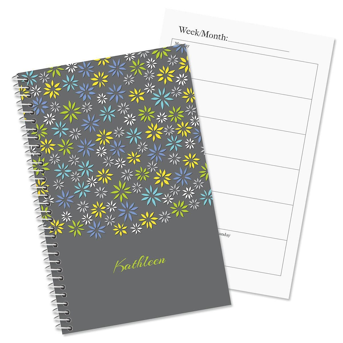 Flower sky personalized planner colorful images for Custom photo planner