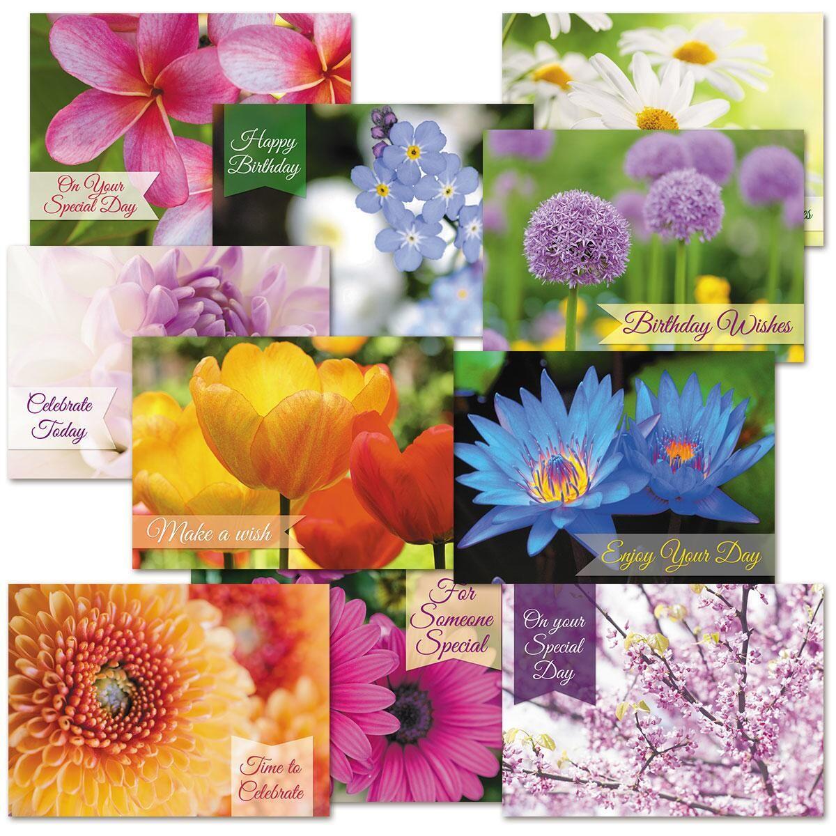 Floral Fantasy Birthday Cards