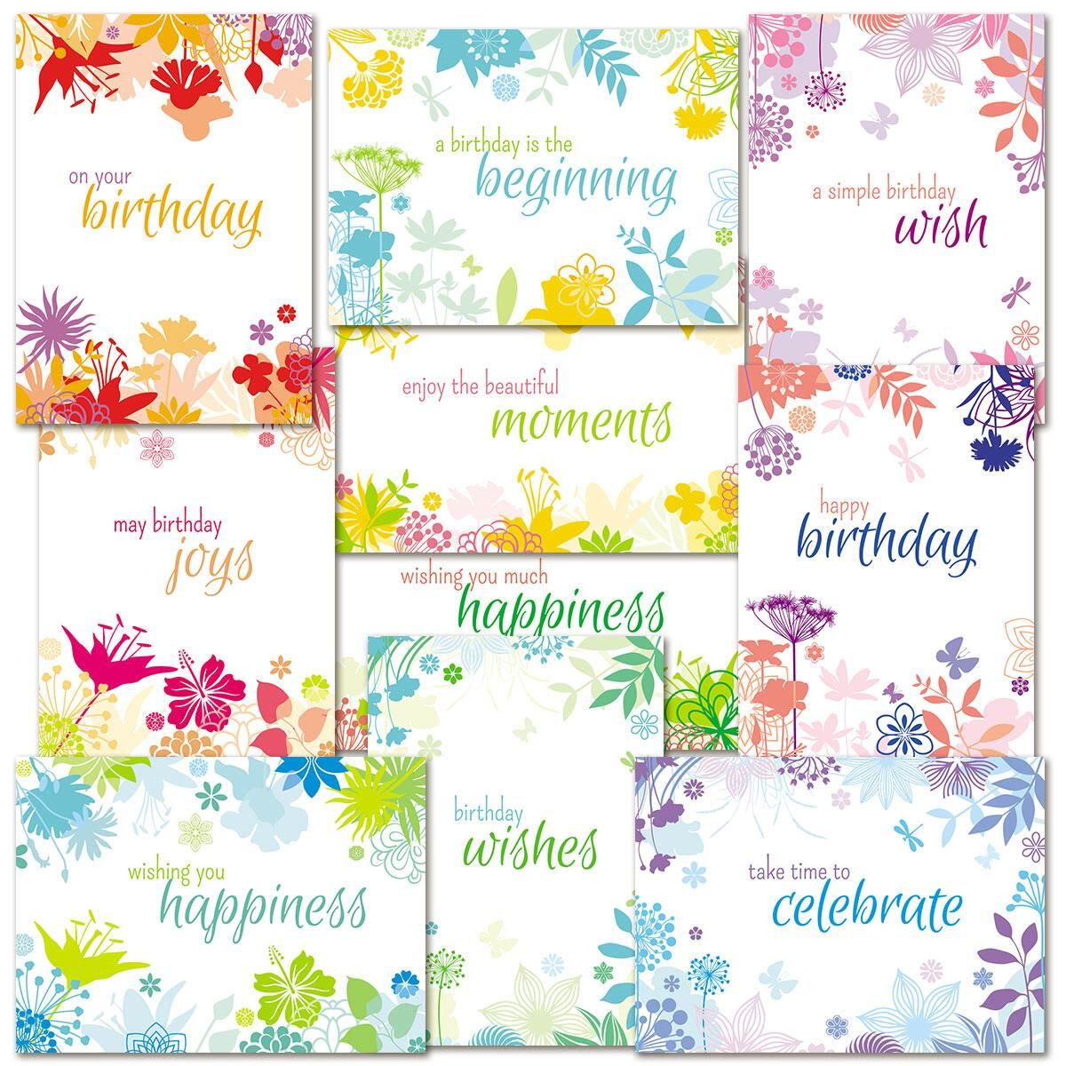 Botanical Birthday Cards