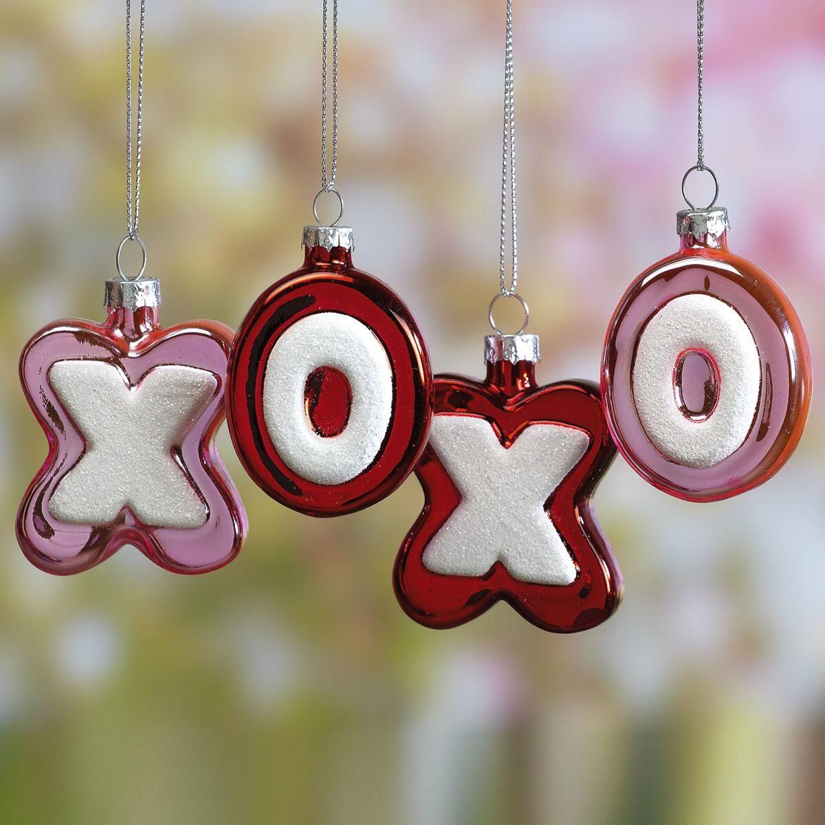 X & O Ornaments - Set of 8