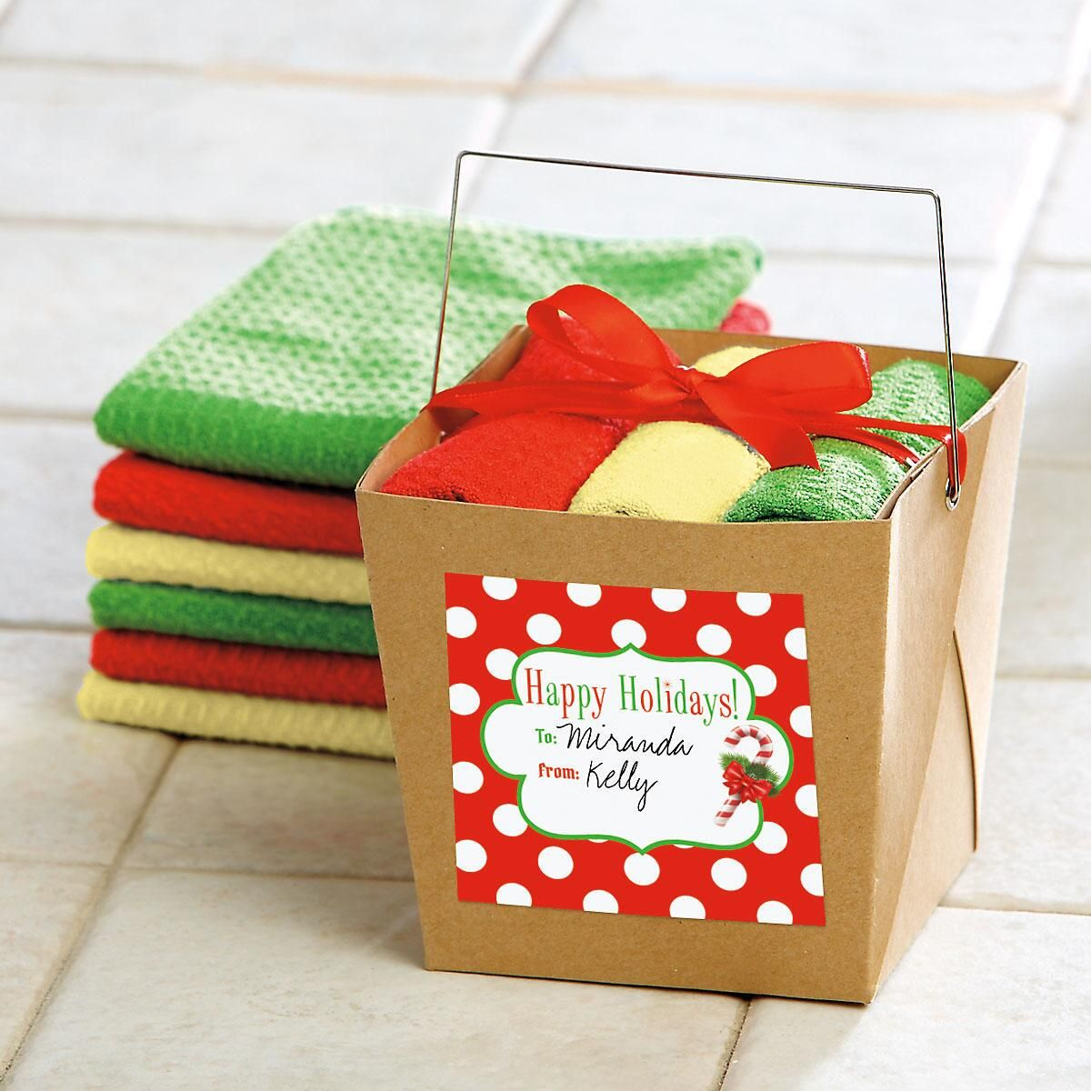 Microfiber Cleaning Cloths in Takeout Box