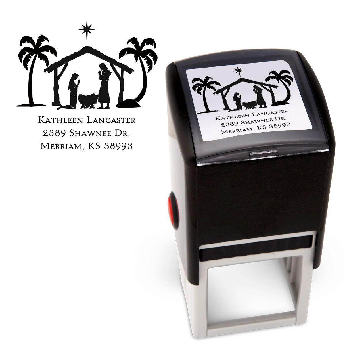 Nativity Square Stamp