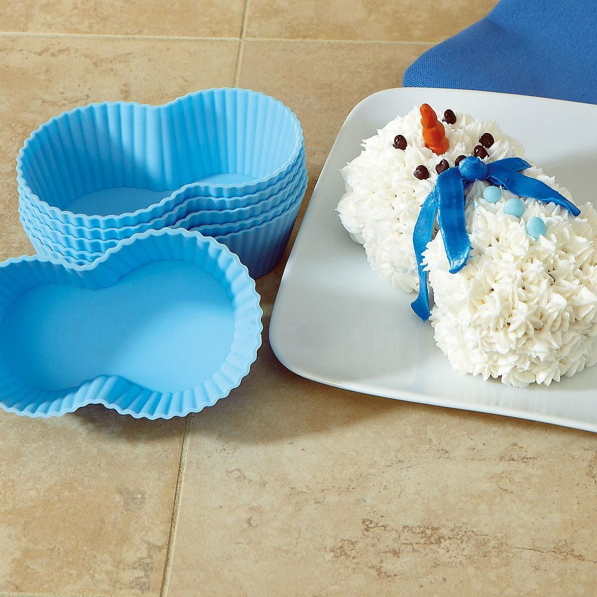 Holiday Snowman Cupcake Molds