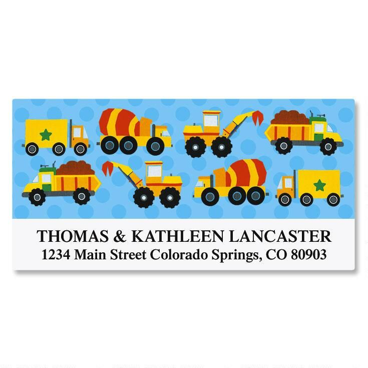 Construction Deluxe Address Labels